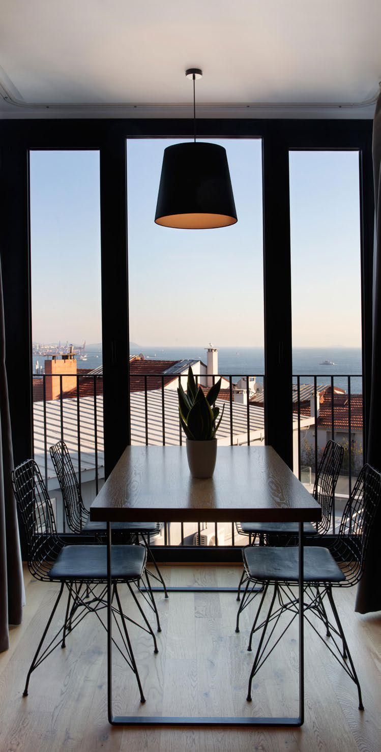 Istanbul apartment for rent - corporate housing - studio flat with private terrace in Galata